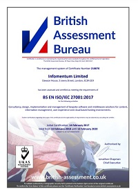 ISO certificate 2018
