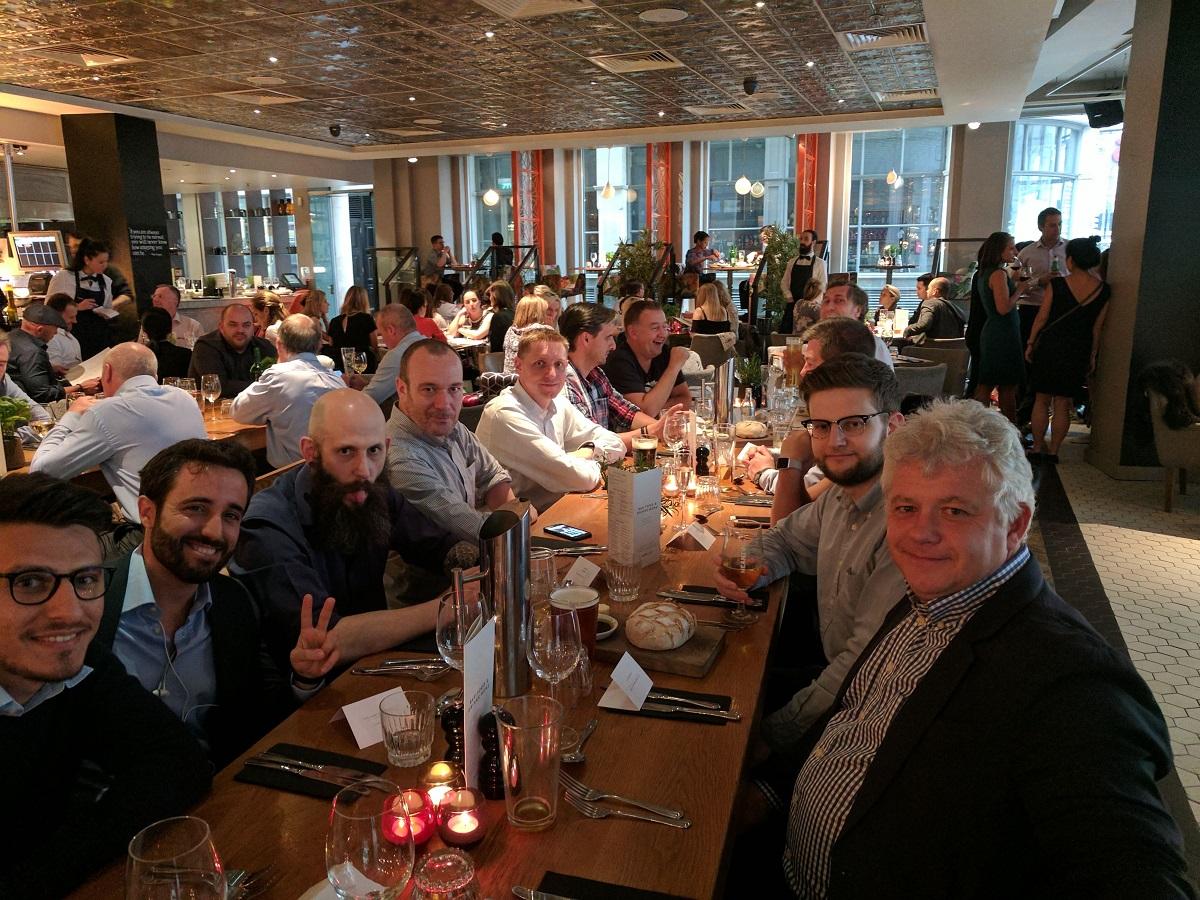 The team dinner