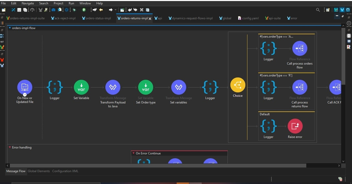 MuleSoft API flow blog
