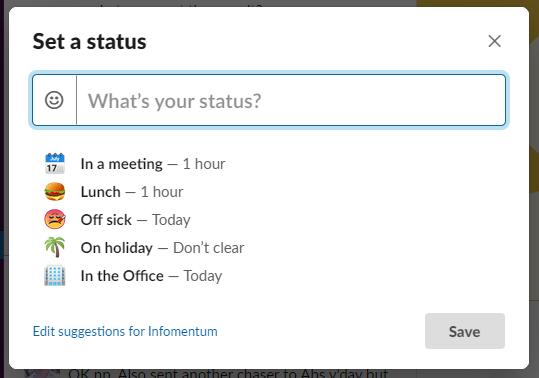 Set your ststus on Slack remote project management